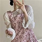 YUNCHENG Rosa Suspender Vestido Femenino Verano 2021 Nuevo diseño de diseño francés Retro pequeño Hombre reducción de Edad Falda Corta (Color : Skirts, Size : One Size)