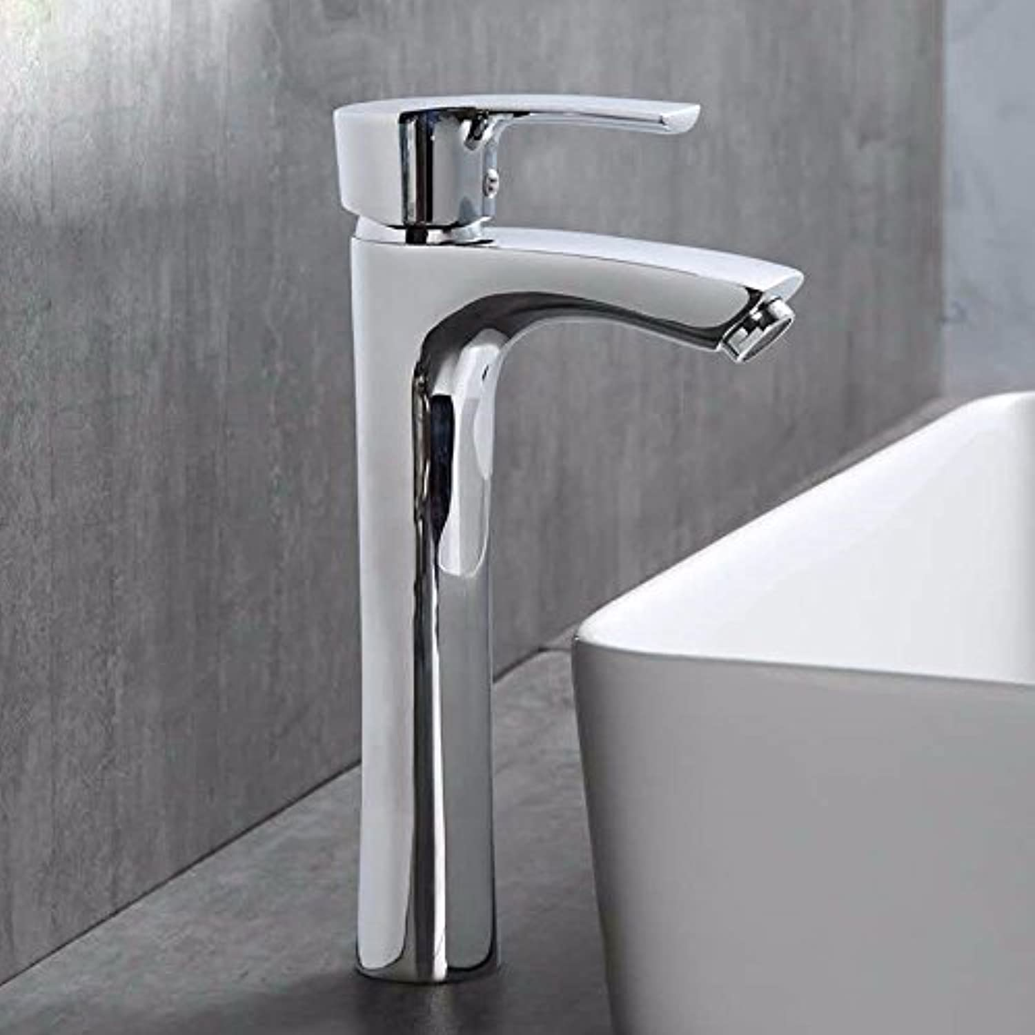 Hlluya Professional Sink Mixer Tap Kitchen Faucet All Copper Single-plus high cold and hot-water faucet