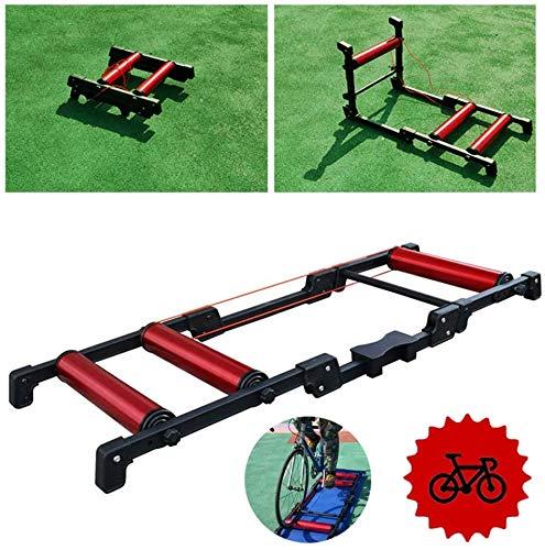 GGKLY Fietswieltjes, inklapbaar, voor indoor fietsen, trainers, voor wielrennen, racefiets, mountainbike, fitnessoefeningen