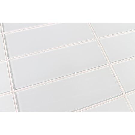 10 Sq Ft Of Snow White 4x12 Glass Subway Tiles For Kitchen Backsplash Tub Surround From Rocky Point Tile