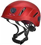 Tontron Hiking Climbing Caving Helmet (Red, Large)