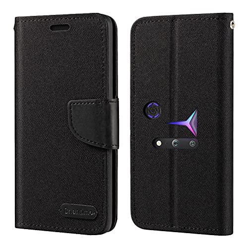 Lenovo Legion 2 Pro Hülle, Oxford Leder Wallet Hülle mit Soft TPU Back Cover Magnet Flip Hülle für Lenovo Legion Phone Duel 2 L70081