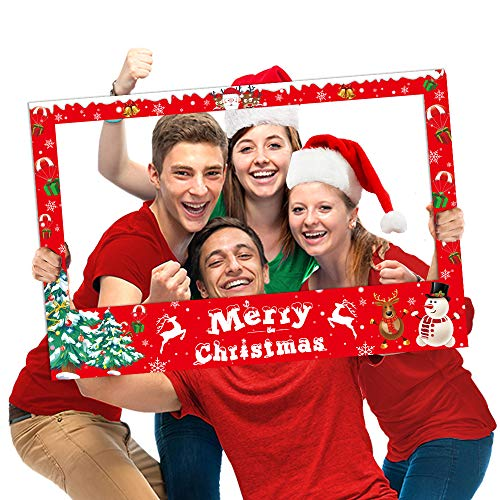 Christmas Photo Booth Props Frame Party Supplies - Xmas/Winter/Holiday New Year Decorations
