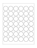 Chromalabel.com 1-1/4'   3.2 cm White Round Labels for Laser & Inkjet Printers   1,050 1.25 in. Dots Per Pack