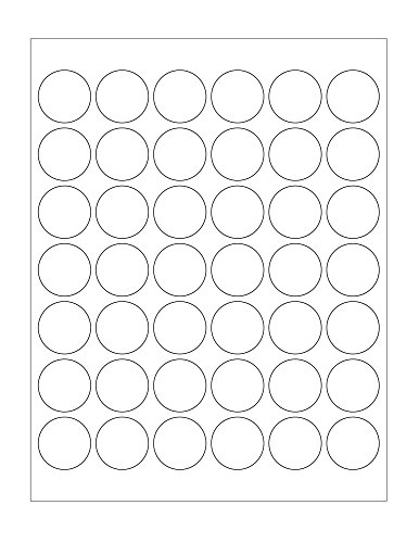 ChromaLabel 1-1/4 Inch Round Printable Labels for Laser and Inkjet Printers, 1050 Pack, 42 Stickers per Sheet, White