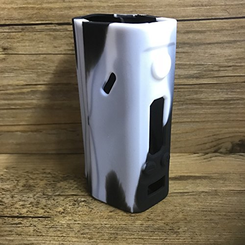 Silicone Case for Wismec Reuleaux DNA 200 Sleeve DNA200 Skin Wrap (White/Black)