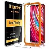 [2 Pack] UniqueMe Cristal Templado para Xiaommi Redmi Note 8 Pro, Protector de Pantalla [9H Dureza ] [Sin Burbujas] HD Film Vidrio Templado para Xiaommi Redmi Note 8 Pro