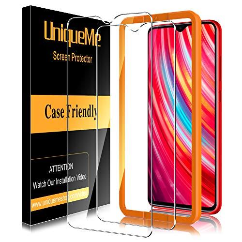 UniqueMe [3Pack] Schutzfolie für Xiaommi Redmi Note 8 Pro Panzerglas, Bildschirmschutz für Xiaommi Redmi Note 8 Pro, HD klar Folie gehärtetes Glas