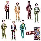 Spar-Set 173971 - BTS - Bangtan Boys Puppen - Boyband-Set mit Allen 7 Mitgliedern