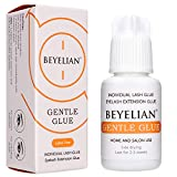BEYELIAN Sensitive Eyelash Extension Adhesive, DIY Individual Lash Glue, Gentle Glue Low Irritation Professional and Self Use