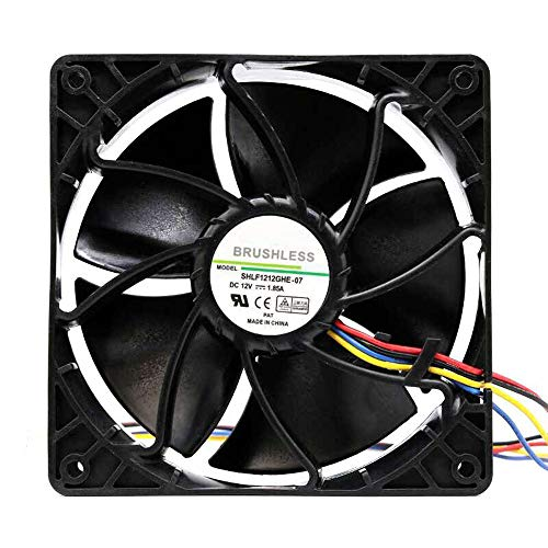 7500RPM Cooling Fan 4-pin Original Dual Connector For Antminer Bitmain S7 S9 US