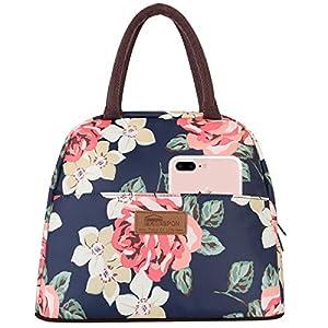 HOMESPON Bolsa Isotérmica de Almuerzo Lunch Bag Bolsa Térmica Porta Alimentos Tela Impermeable Plegable Bolso de Picnic para Mujeres, Adultos, Estudiantes y Niños