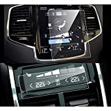 LFOTPP Volvo V90 XC90 2016-2019 2PCS Car Navigation and Air Conditioning Display Screen Protector, Clear Tempered Glass Center Touch Screen Protector Against Scratch High Clarity