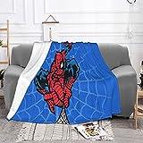 Spiderman Couverture en micro-polaire ultra douce et confortable en flanelle, couverture climatisée pour adultes, couverture chaude en micropolaire pour bébés et enfants