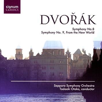 """Dvořák: Symphony No. 8 / Symphony No. 9 """"From The New World"""""""