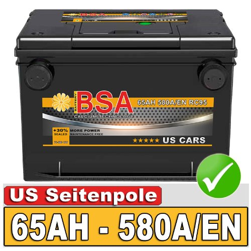 BSA BATTERY HIGH QUALITY BATTERIES Autobatterie 65Ah für USA US Car Fahrzeuge Chrysler Cadillac Chevrolet 60Ah