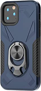 RANYOK Compatible iPhone 11 Pro Ring Kickstand Case, Dual Layer Armor Rugged Shockproof Protection Fit Car Magnetic Beers Bottle Opener Stand Design Hard Back Cover case (5.8 inch) (Blue)