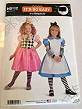 Simplicity H0112 / S0979 Sewing Pattern, Child's Alice in Wonderland Costumes, Size 3-8