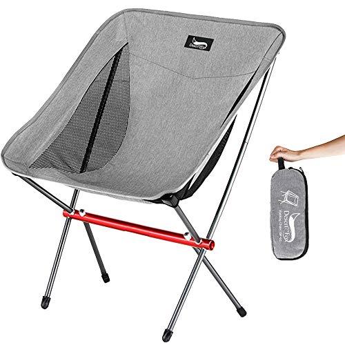 DesertFox アウトドアチェア 折りたたみ 超軽量【耐荷重150kg】コンパクト イス 椅子 収納袋付属 お釣り 登山 携帯便利 キャンプ椅子NK (グレー1個A)