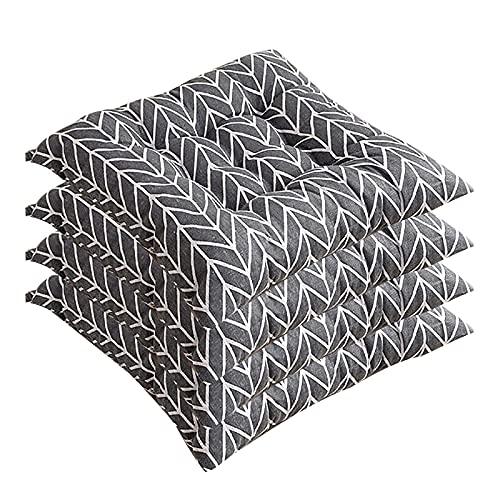 KSSPNL Cuscino per Sedia da Pranzo Stampato Cuscino Morbido Set di 4 Sedie per Divani Quadrati in Cotone Cuscino per Sedile in Pizzo Non-SL