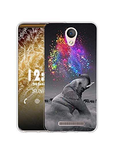 Sunrive Kompatibel mit DOOGEE X6 Pro Hülle Silikon, Transparent Handyhülle Schutzhülle Etui Hülle (Q Elefant 2)+Gratis Universal Eingabestift MEHRWEG