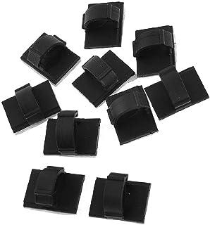 10 Stks Kabel Tie Clips Zwart Zelfklevende Backed Nylon Draad Verstelbare Kabel Clips Zelfklevende Kabel Management voor T...