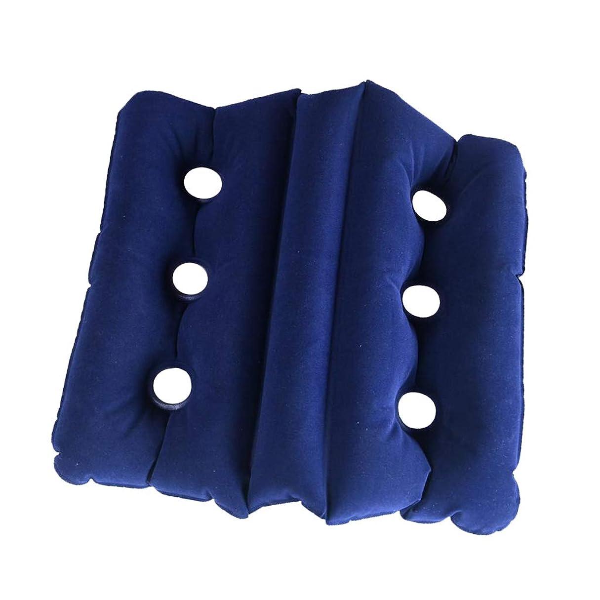 熟した湖ホテル折り畳み式 エアー インフレータブル クッション シートチェアー車 椅子 ピローパッドダーク 濃紺