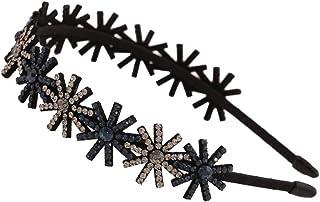 Headband Crystal Hairhoop Non-slip Teeth Hairband Hair Accessories for Women #2