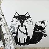 dwxnzbz Wall Decal Lovely Woodland Fox Wall Sticker Children's Room Kindergarten Wall Art Tattoo Vinyl Mural 40X34 cm