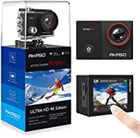 AKASO EK7000 Pro 4K WiFi Action Camera with Touch Screen EIS Adjustable View Angle 40m Waterproof Underwater Camera...