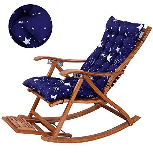 Soft Garden Sun Lounger Silla reclinable Cojín Espesar Plegable Silla Mecedora Cojín Silla Larga Sofá Asiento Cojín,160 * 48 * 5cm