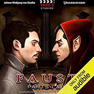 Faust: Parts I & II                   Written by:                                                                                                                                 Johann Wolfgang von Goethe                               Narrated by:                                                                                                                                 Philippe Duquenoy                      Length: 10 hrs and 49 mins     2 ratings     Overall 4.5