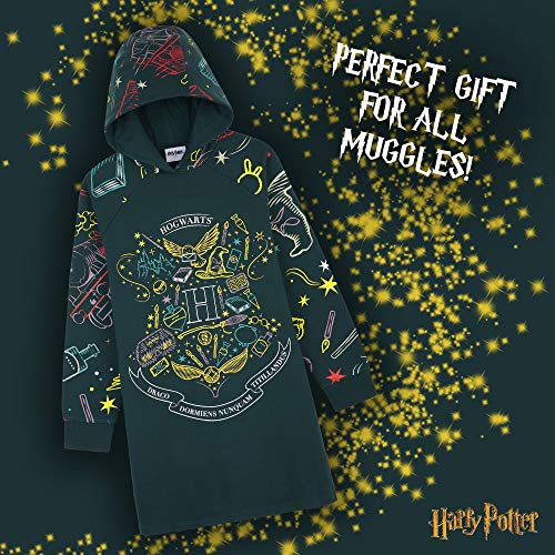 Harry-Potter-Hoodie-Dress-for-Girls-and-Teens-Cotton-Oversized-Jumper-Age-5-14