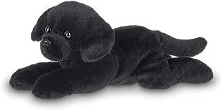 Bearington Lil' Jet Small Plush Black Labrador Retriever Stuffed Animal Puppy Dog, 8 inches