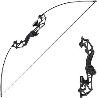 アーチェリー用弓 リカーブボウ 狩猟弓 ロングボウ リカーブボウ 取り外し可能 組立簡単 30-40lbs が付属 矢台 矢ブラシ