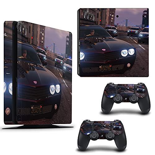 VINILOL Vinilo GTAV Grand Theft Auto v3 para playstation 4 PS4 Slim pegatina cubierta skin para consola y 2 mandos
