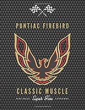 PONTIAC FIREBIRD: Classic Super car / Muscle car enthusiasts wide ruled notebook journal and repair book