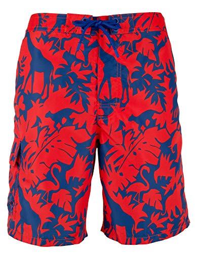 Polo Ralph Lauren Safari Kailua Badehose mit tropischem Muster, 21,6 cm, Größe M – Safari