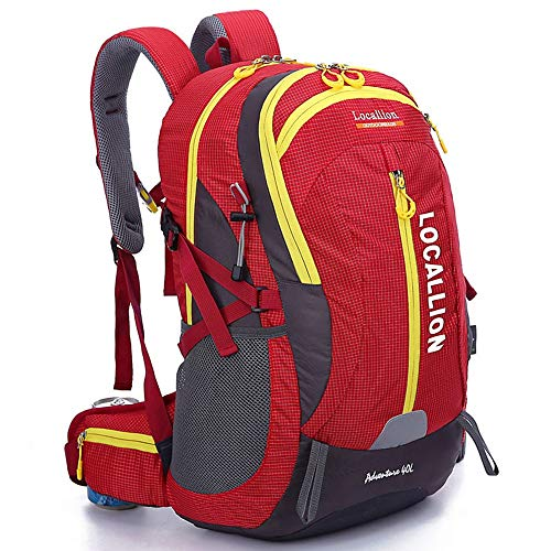 Men's and Women's Bicycle Backpacks Water Resistant Lightweight Travel Hiking Travel Backpack Camping Rucksack Pack for Camping Hiking Military Traveling 40L Suitable for Short Trips and Daily Commuti