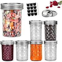 6-Pack LovoIn 16oz Regular Mouth Mason Jars with Lids and Bands