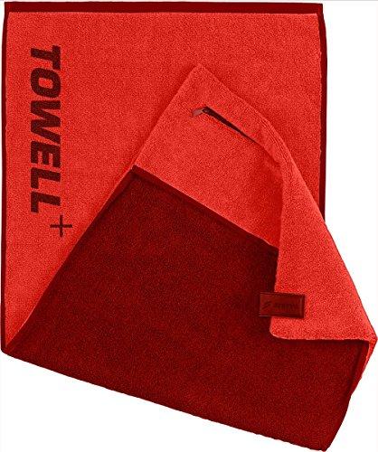 STRYVE Towell Plus V2 en 7 Couleurs by Drap de Sport avec Housse et Clip magnétique, connu de la Grotte des Lion Taille Unique Rouge foncé