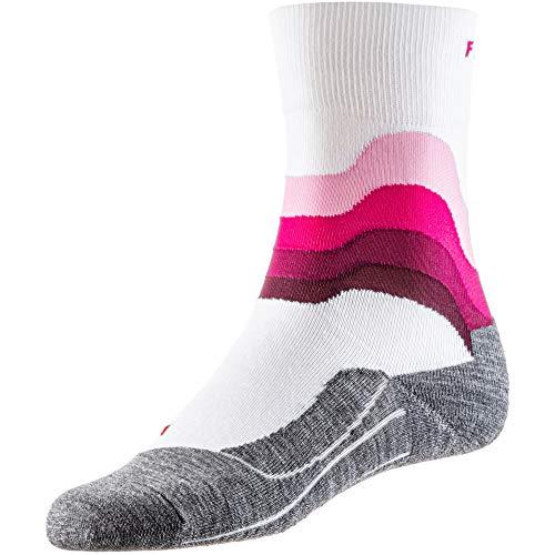 FALKE Damen RU4 Wave Socken, White, 41-42