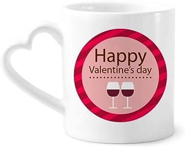 Vasos de cerámica para el día de San Valentín, color rosa