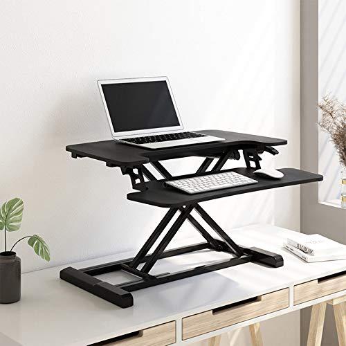 Flexispot Sitz Steh Schreibtisch Stehpult Höhenverstellbarer Schreibtisch Schreibtischaufsatz Computertisch (Breite: 72 cm)