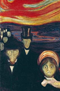 Anxiety, Edvard Munch. Ruled journal: 160 Lined / ruled pages, 6x9 inch (15.24 x 22.86 cm) Laminated.  (Notebook, composition book)