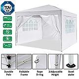 Gazebo/Tonnelle de Jardin Tente de réception 3x3m pavillon imperméable Tente...