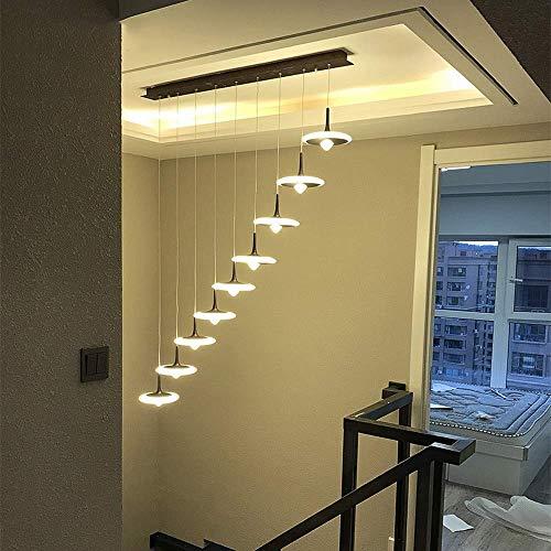 Nordic weegschaal moderne hanglamp eenvoudige retro sfeer creatieve woonkamer hanglamp persoonlijkheid duplex house lange plafondlamp warm licht A++