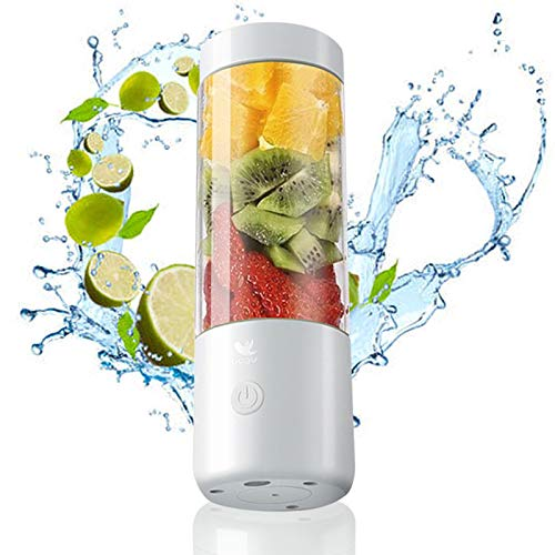 Portable Blender, Personal Blender, Smoothie Blender. Rechargeable USB Blender Food Milkshake Multifunction Juice Maker Machine (Moistening jade white)…