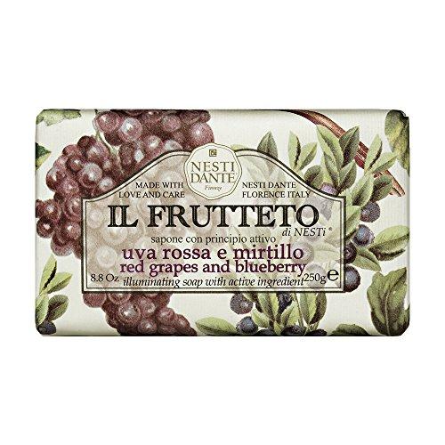 Sabonete Barra Il Frutteto Uvas Vermelhas e Mirtilo, Nesti Dante, Natural, Nesti Dante, Na