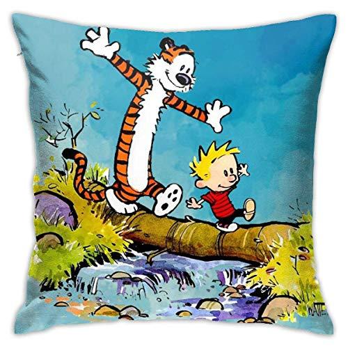 XCNGG Ca-LV-in y Ho-b-b-es Fundas de Cojines Fundas de Cojines Fundas de Almohada Decorativas para el hogar Regalos para sofá de 18 x 18 Pulgadas